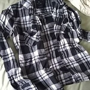 Black and White pacsun nollie flannel xsmall